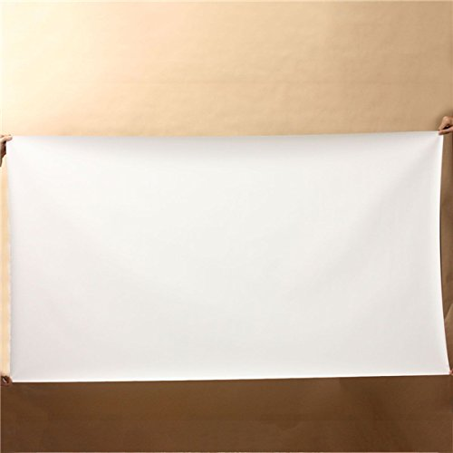 CoCocina 100 inch 16:9 White Portable Home Projector Screen Cinema Curtain HD TV Projection
