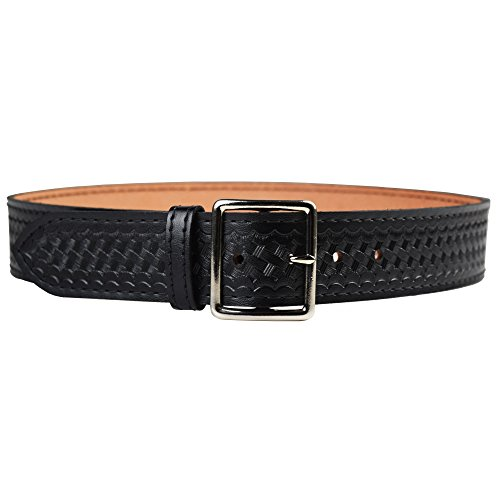 Garrison Belts Military Clothing Accessories (Safariland Duty Gear Garrison Chrome Buckle Belt (Basketweave Black,)