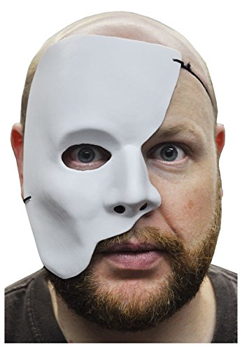 PHANTOM OF THE OPERA HALF WHITE MASK MARDI GRAS ADULT MASQUERADE COSTUME PARTY MEN FACE MASKS from Unknown