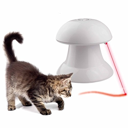 Automated Cat Toys : Cat toys automatic rotating light interactive toy