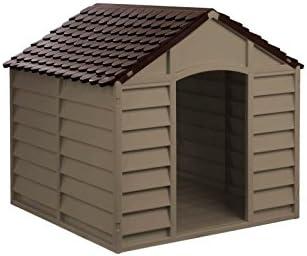 209554 Caseta de resina para perros de tamaño medio/grande 78x85x80 cm: Amazon.es: Jardín