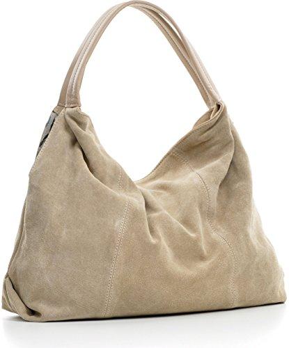 à sac la hobo P L en x sacs dames sacs bandoulière 41x33x10cm main à à mode H Taupe daim A4 CNTMP Clair sacs velours x sacs sacs sac cuir Xq7zXBO