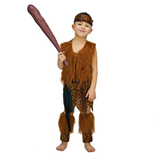 flatwhite Caveman for Boys Costume (7-9 Years)