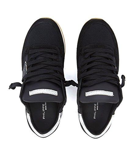 Negra Y Tejido Negro Suede Model En Plata Philippe Tropez Sneaker vqTOZ0