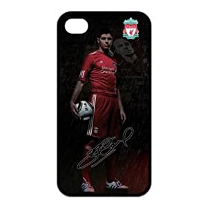Steven Gerrard iPhone 4 4S Case, Steven Gerrard - Liverpool FC iPhone 4 4S Black Silicone Protective Case Cover in Custom, sports, personalized, cool, fashion phone case