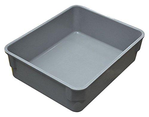 MFG Tray 9401085136 Toteline Nesting Bin, GLASS Fiber Reinforce Plastic Composite, Gray, Capacity 75 lb., 11.375'' x 9.25'' x 3.375'' by MFG Tray
