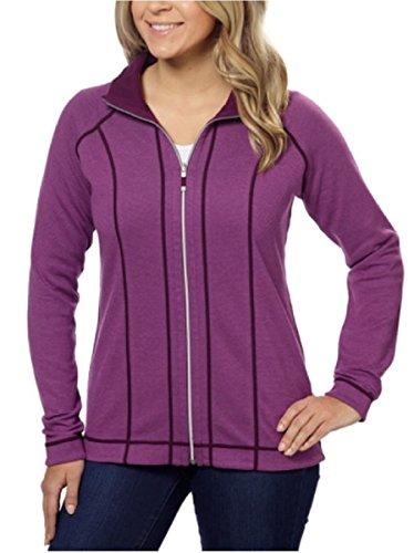 Kirkland Signature Ladies Reversible Full Zip Jacket (Purple, Medium)