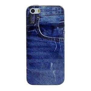 MOFY- el patr—n de los pantalones vaqueros de TPU caso de la contraportada suave material para iphone 5 / 5s