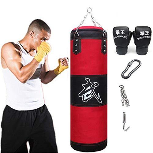 Aquarius CiCi 47 Inch Hanging Punching Bag Set Boxing Heavy Training Sandbags with Chains + Handbag Hook + Boxing Gloves…