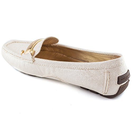 Marc Joseph Ny Made In Brasile Scarpe Da Donna Moda West Village Driver Crema Pebble Granuloso
