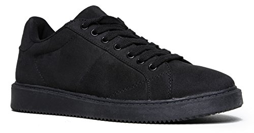 Faux Suede Round Toe Sneaker - Lace Up Low Top Comfy Shoe - Casual Street Style Hot - Style Edgy Kylie Jenner
