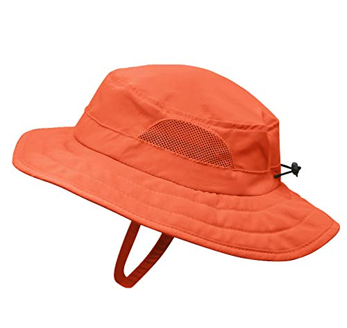 Connectyle Kids UPF 50+ Bucket Sun Hat UV Sun Protection Hats Summer Play Hat (Orange) -