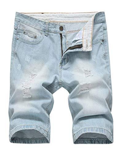 Retro Ragazzi Da Summer Rt Jeans Pantaloncini Fit Hellwhiteblau Slim Fashion Nge Uomo Stile Di Corti Hole Casual Classiche 6dWdaq