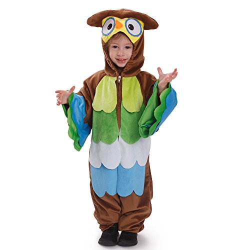 Dress Up America Kids Toddlers Hoo Hoo Owl Pretend Play Costume Outfit for Children -
