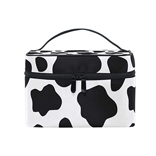 Toiletry Bag Cow Print Cosmetic Bags Travel Makeup Train Cases Storage Organizer