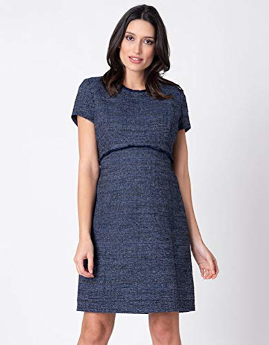 (Seraphine Womens Business A-line Tweed Dress Maternity in Navy 4)