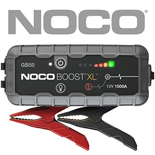 - NOCO Boost XL GB50 1500 Amp 12V UltraSafe Lithium Jump Starter for up to 7L Gasoline and 4.5L Diesel Engines