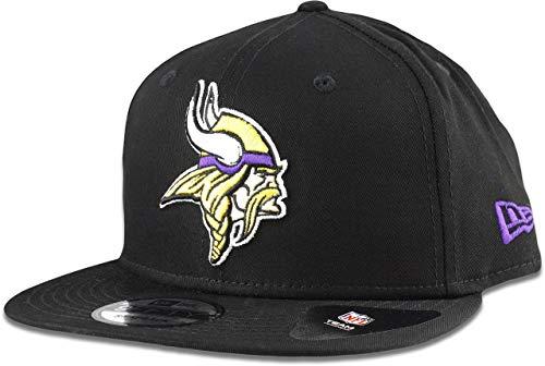 New Era Minnesota Vikings Hat NFL Black Team Color Logo 9FIFTY Snapback Adjustable Cap Adult One Size