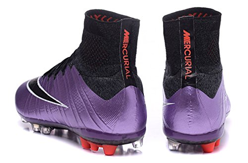 Herren Mercurial superfly X ag-urban lilacbright mangoblackblac mit ACC High Top Fußball Schuhe Fußball Stiefel