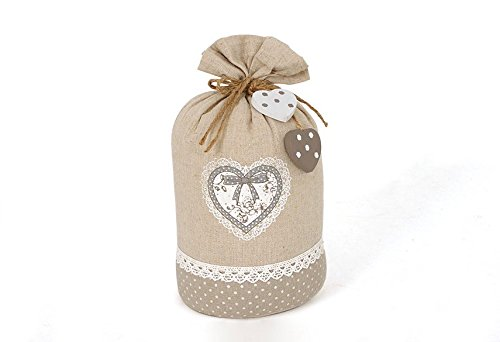 Hearts Burlap Sand Bag Door Stop (Door Stopper Sandbag)