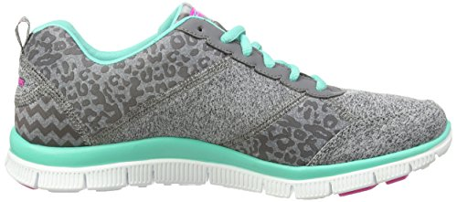 Skechers Flex AppealTribeca, Sneakers Basses Femme Gris - Grau (Cctq)