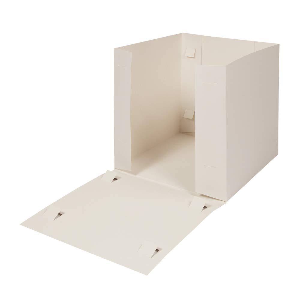 30,5/cm TCDS Hohe Kuchenschachteln // Kuchenboxen f/ür Torten mit mehreren Ebenen f/ür gro/ße Cupcakes mit transparentem Fenster