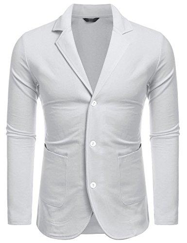 Due Giacche Cotone Da xxl Abito Giacca Con Fit In Bianco Slim Bottoni Casual Maxmoda S Uomo Blazer Tl3u15KcFJ