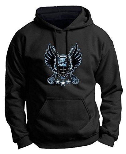 Lacrosse Balls Syracuse Lacrosse Monkey Lacrosse Jolly Roger Crossed Lacrosse Sticks Premium Hoodie Sweatshirt Small Black