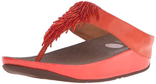 FitFlop Women's Cha Cha Flip Flop, Flame, 6 M US by FitFlop