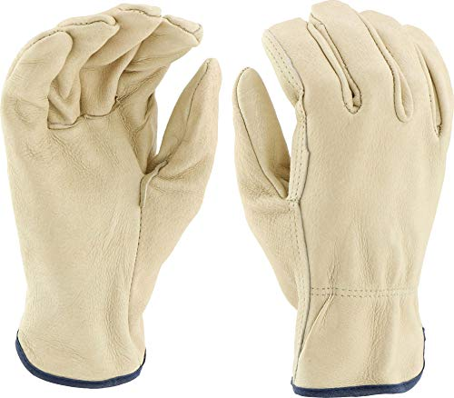 - West Chester 994 Select Grain Pigskin Leather Driver Work Gloves: Straight Thumb, X-Large, 12 Pairs