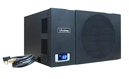 (Vinotemp WM-1500-HTD Wine-Mate Self-Contained Cellar Cooling System, Black)