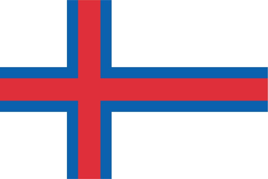 太田旗店 フェロー諸島 国旗 地球にやさしい外国旗 (140×210cm) 140×210cm  B07BXK259F