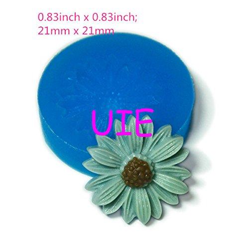 - 126LBH Sunflower Flexible Silicone Push Mold Jewelry Bead Mold Mini Cupcake Topper Clay Push Mold Dollhouse (Fimo Epoxy Gum)