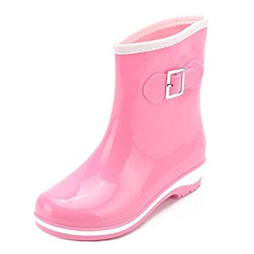 Low Rain Womens Highdas Rain Wellies Ladies Boots On Purple Boots Rubber Slip Wellington pPa0ZPxwqc