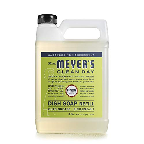 Dishwashing Liquid Dish Soap Refill, Cruelty Free Formula, Lemon Verbena Scent, 48 oz, Fast Delivery