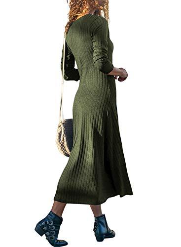 Lunga Green Donna Maglione Fiyote Manica PwqBSR0