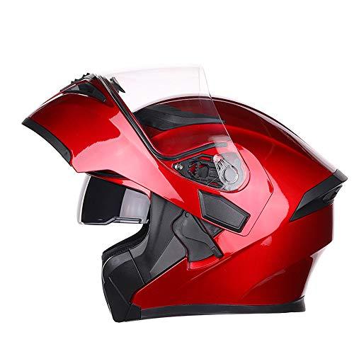 Motorrad Helm Klapp Helm Integralhelm Motorradhelm mit Doppelvisier Scooter Roller Helm für Damen und Herren