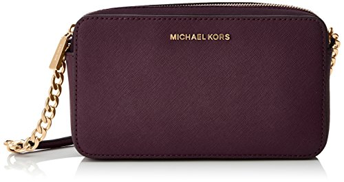 MICHAEL Michael Kors Jet Set Travel Medium E/W Saffiano Crossbody (Damson)