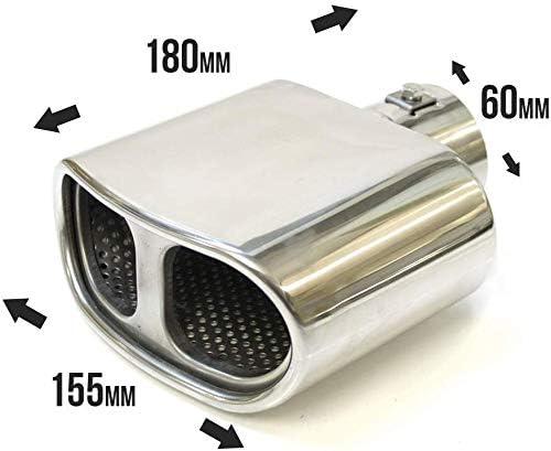 Boloromo 8295 Universal Sport Auto Auspuffblende Auspuff Endrohr Stahl Edelstahl 43-57mm /Ø Chrom