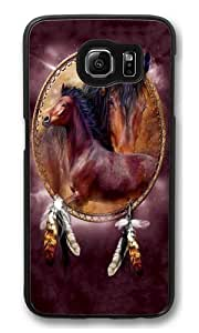 Horse Shield 2 PC Case Cover for Samsung S6 and Samsung Galaxy S6 Black
