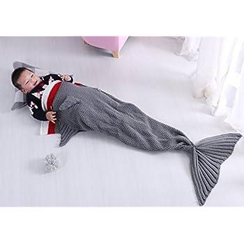 Enjoybridal mermaid sleeping blankets for kids for Snuggie tails clown fish