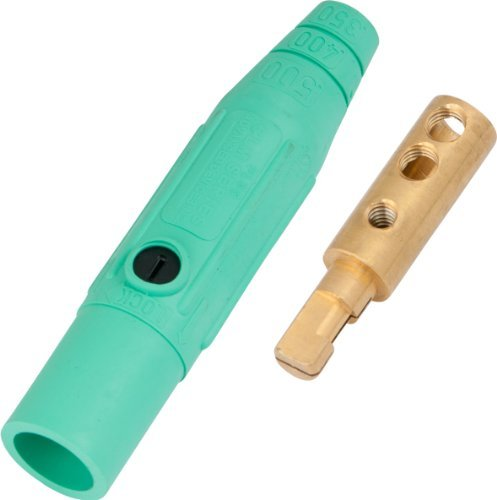 Marinco CLM2M-E Cam Type, Series 15 Mini Inline, Single Pin Connector, 150 Amp, 600 Volt, #8 - #2 AWG, Male - Green (E) by Marinco Power Products ()