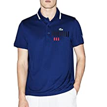 Lacoste Men's Novak Djokovic Collection Men's White Polo 100% Polyester