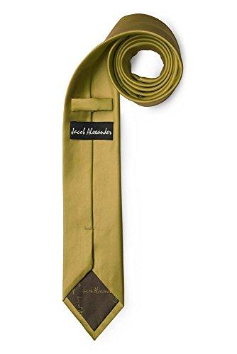 """Jacob Alexander Men's Skinny Width 2"""" Solid Color Tie"""