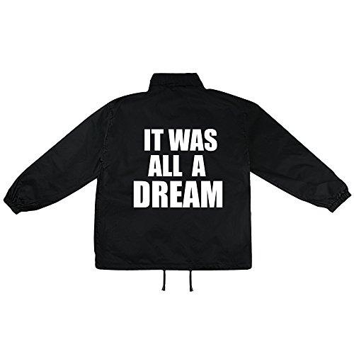 It was all a Dream Motiv auf Windbreaker, Jacke, Regenjacke, Übergangsjacke, stylisches Modeaccessoire für HERREN, viele Sprüche und Designs