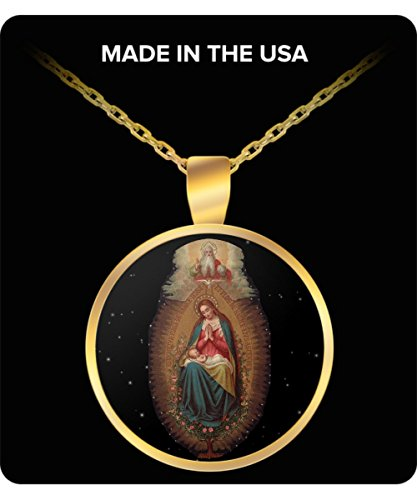 Schur-Link Brands Gift for Catholic! Blessed Virgin Mary & Holy Trinity Art Necklace For Friend Wife -