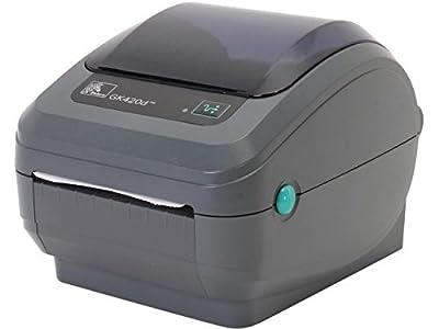 """Zebra GK420d Monochrome Desktop Direct Thermal Label Printer, 5 in/s Print Speed, 203 dpi Print Resolution, 4.09"""" Print Width, 100/240V AC"""