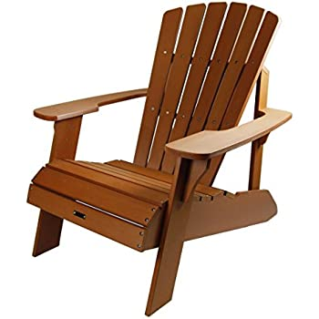 Amazon Com Adirondack Chair Faux Wood Garden Amp Outdoor