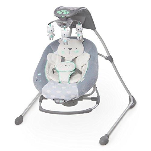 Ingenuity Twinkle Teddy Bear In Lighten Cradling Swing & (Fisher Price Papasan Cradle Swing)