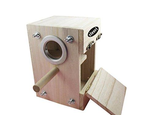 Bird breeding Nest Box Wood DIY Kit Parrot Cage Fitting N...
